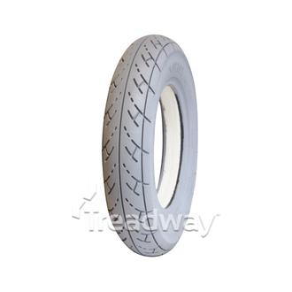 Tyre 300-8 Grey Solid Fill PU White Smooth W2614