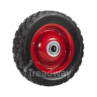 "Wheel 6"" Red Steel Ctr ½"" BB Ctrd Dia"