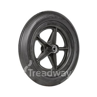 "Wheel 8"" Golf Spoke ½"" BB Rim 12½x2¼ EVA Solid Rib Tyre"