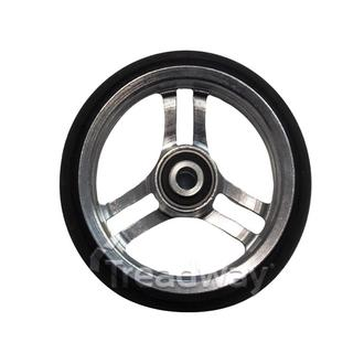 "Mobility Castor Wheel 4"" Black Wheel Chair 8mm Bearing 32mm Wide"