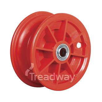 "Rim 2.55-6"" Plastic Red ¾"" FB"