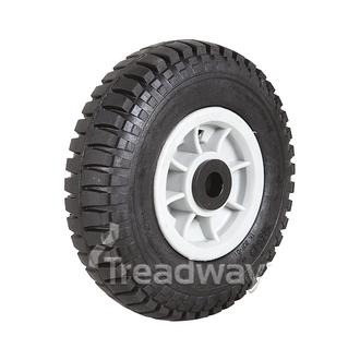 "Wheel 4"" Plastic Grey 20mm Bush Rim 250-4 Solid W102"