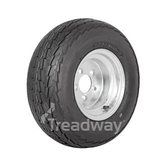 "Wheel 6.00-10"" Galv 5x4.5"" PCD Rim 20.5x8-10 12ply Road Tyre W146"