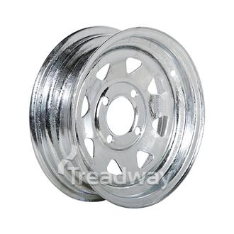 "Rim 12x4"" Galv Spoke 4x4"" PCD"