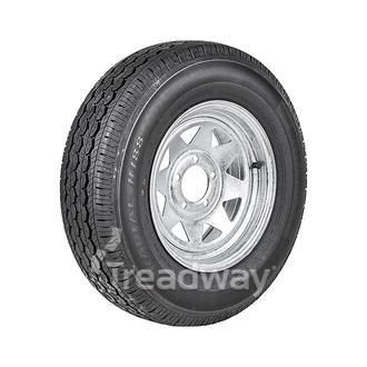 "Wheel 14x6"" Galv Spoke 5x4.5"" (10mm OS) PCD Rim 195R14C 8ply Tyre W312 Westlake"