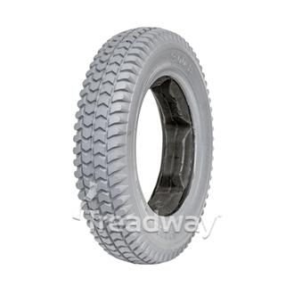 Tyre 300-8 Grey PU Fill Lugged Profile W2805LUGGED (C-248)