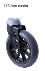 Mobility Castor Wheel 175mm 8mm Bore Spoked Wheelchair Wheel