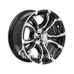 Rim 13x5 Alloy Loadstar XT Black 5x4.5PCD