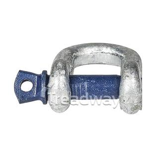 Dee shackle- rated pin, galvanised