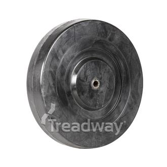 Wheel 200mm Dia Steel 10.0mm Bore. Solid