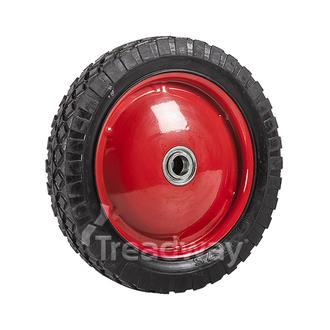 "Wheel 10"" Red Steel Ctr 3/4"" BB Ctrd Dia"