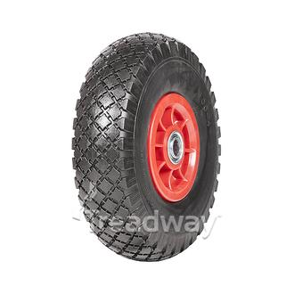 "Wheel 300-4 Plastic Ctr 3/4"" FB W108 PU"