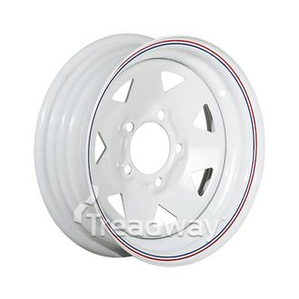 "Rim 13x4.5"" White Spoke 5x4.5"" PCD"