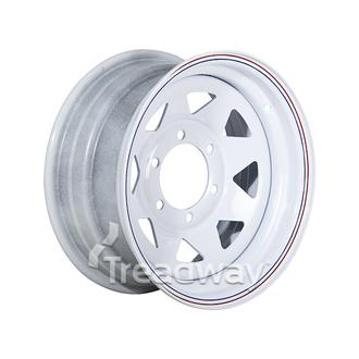 "Rim 15x7"" White Spoke 6x5.5"" PCD"