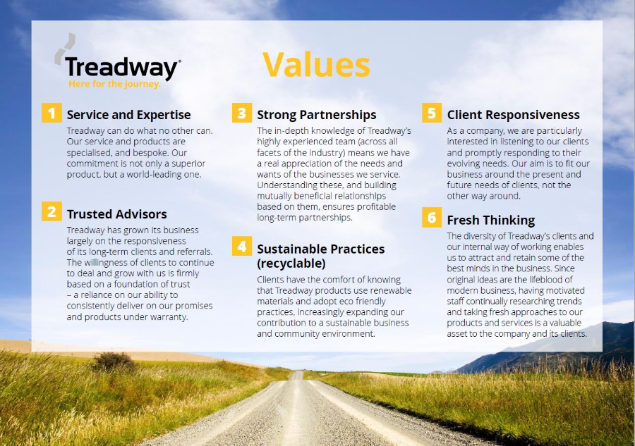 Treadway Values